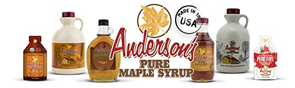 Anderson's Pure Maple Syrup, Anderson's Individual maple syrup Pouches, Maple athletic fuel