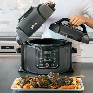 Ninja, Foodi, Pressure Cooker, OP302, Air Fryer, Crisper, Tendercrisp, Programmable, Instant Pot