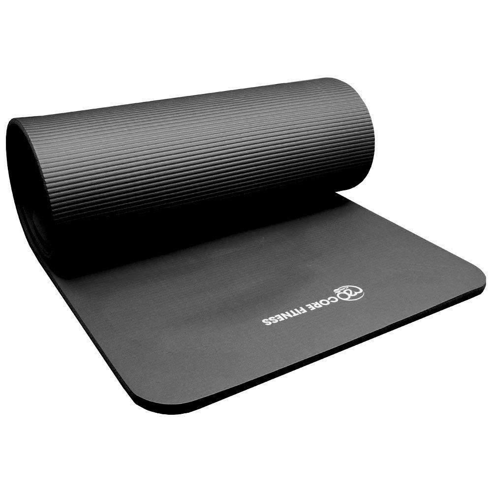 Pilates Mad Core Fitness Mat Black Amazon Co Uk Sports