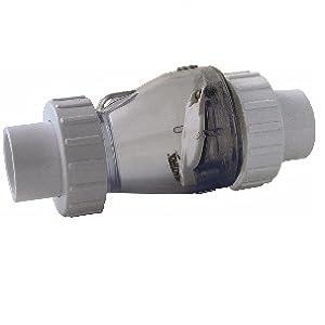 Valterra PVC Transparentes R/ückschlagventil mit 3//3 Kupplung /Ø 50 mm mit Feder