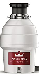 Waste King Legend Series 1 2 Hp Garbage Disposal With