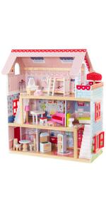 KidKraft Chelsea Doll Cottage, Chelsea Dollhouse, Wooden Dollhouse, Wooden Dolls house