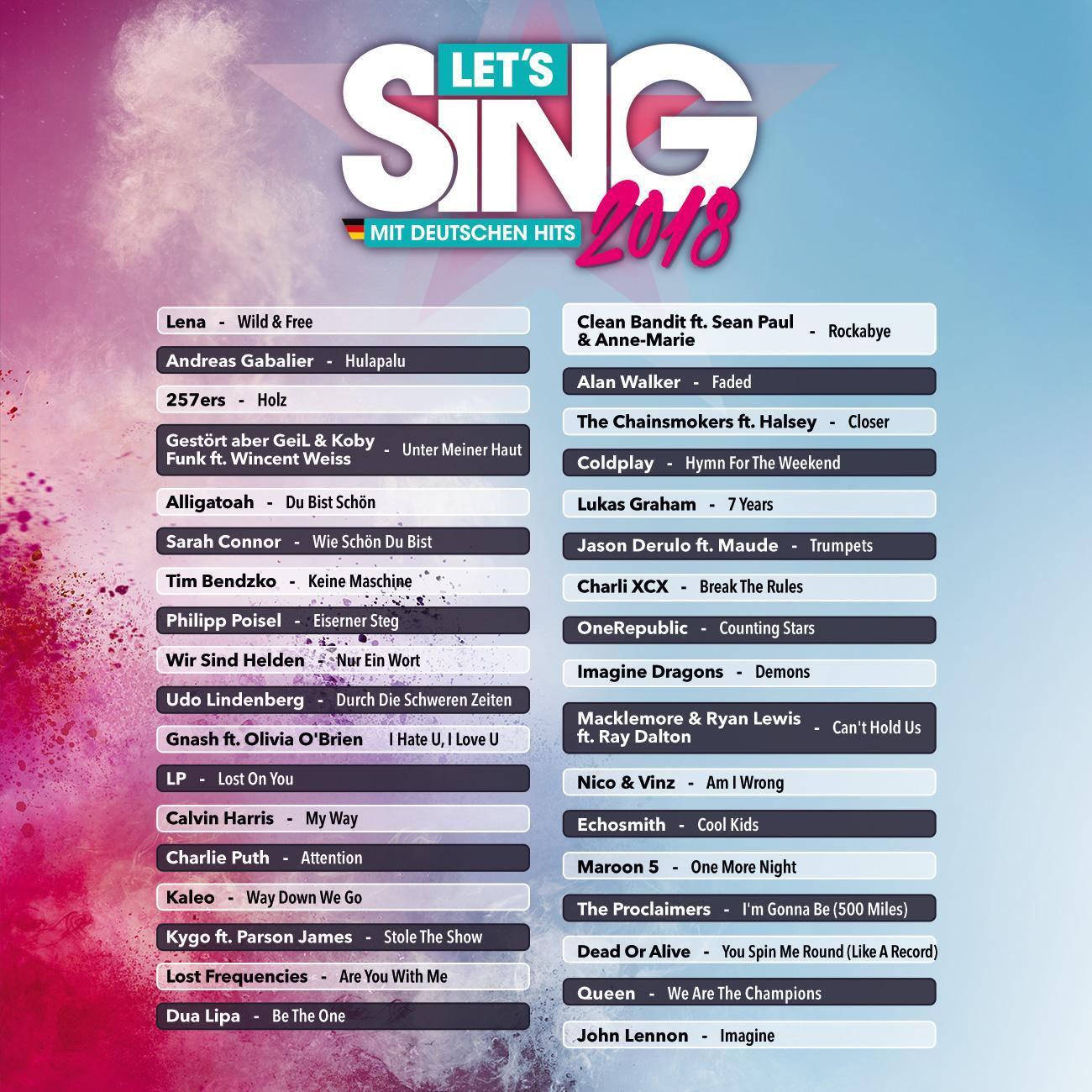 Let's Sing 2018 mit Deutschen Hits [Switch]: Amazon.de: Games
