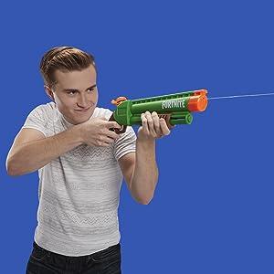 fortnite; submachine gun; super soaker; toy; water gun; nerf water gun; birthday gift; fortnite