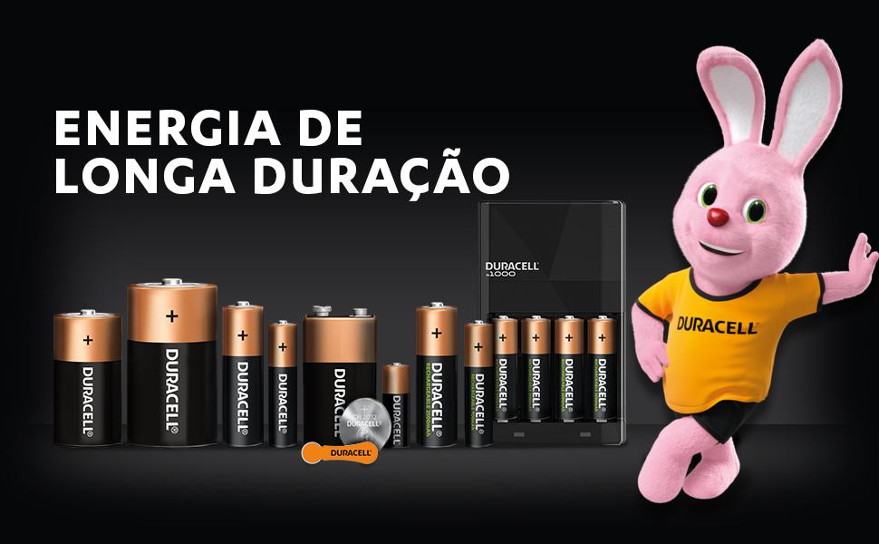 A Duracell é a líder mundial em fabricação de pilhas alcalinas de alta performance.