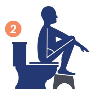Sgabello per WC in acrilico Squatty Potty Slim Ghost