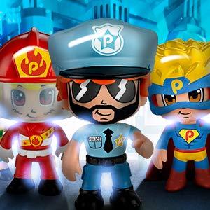 Pinypon Action - Moto de policía con 1 Figura, para niños y niñas ...