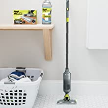 Easily store your vacuum mop
