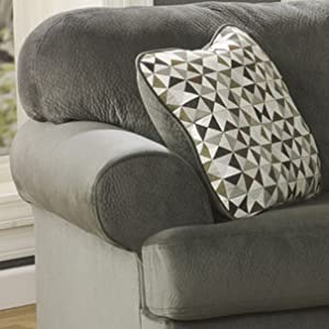 Phenomenal Signature Design By Ashley Jessa Place Sectional In Pewter Fabric Spiritservingveterans Wood Chair Design Ideas Spiritservingveteransorg