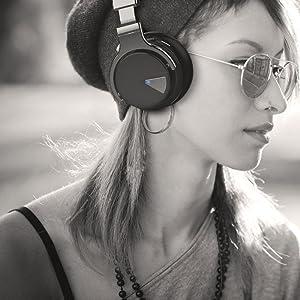 headphones over ear