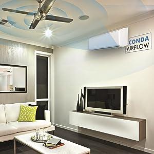 Coanda Airflow, Radiant cooling