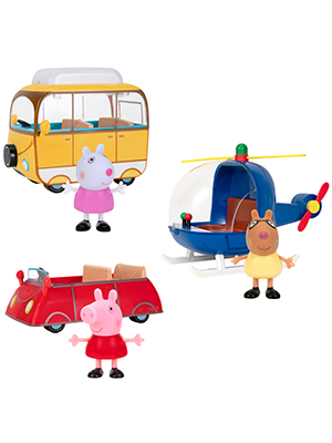 peppa pig vehicles toys