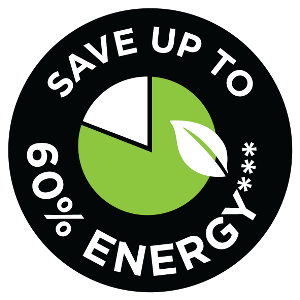 save up to 60 percent energy