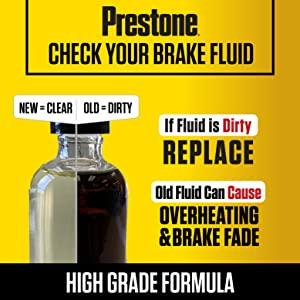 prestone; break fluid