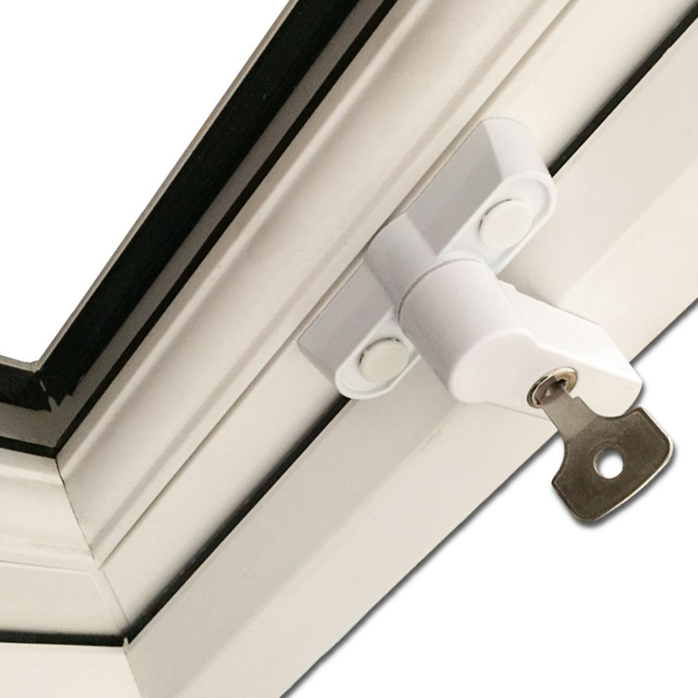 Homesecure Hs2861 Sash Jammer Key Locking Kit White