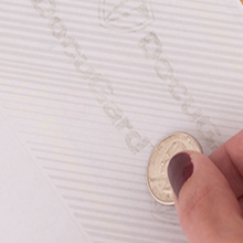 coin reactive ink