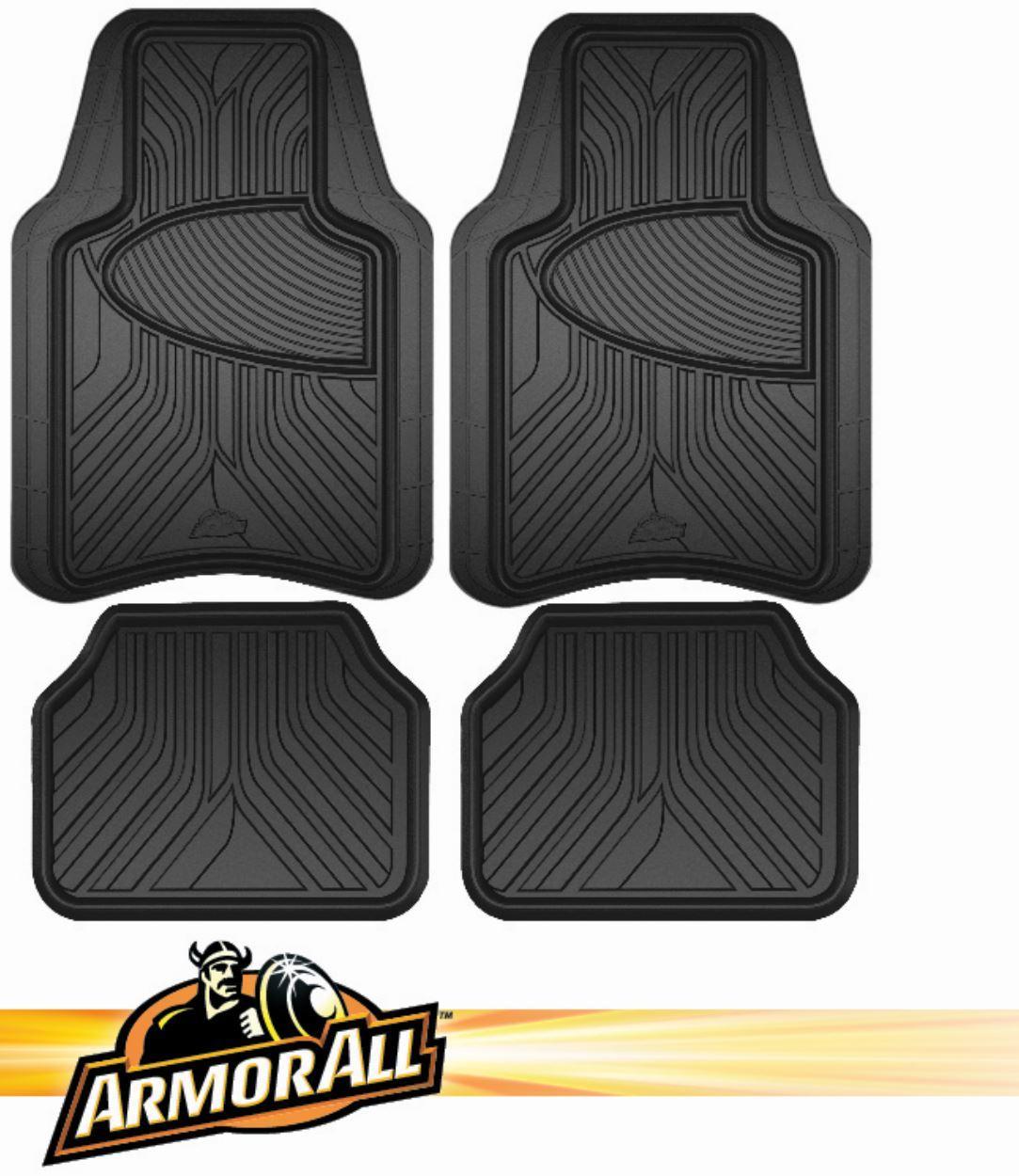 Armor All 4-Piece Black Rubber Interior Floor Mat