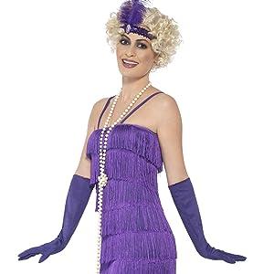 Smiffys Smiffys-33368L Disfraz de Chica Gatsby de los años 20 y ...