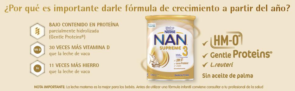 NAN SUPREME 2 - Leche de continuación en polvo Premium - Fórmula para bebé - A partir de los 6 meses - 800g