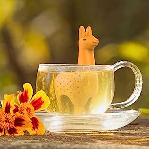 llama, andes, peru, alpaca, tea, tea infuser, tea, loose leaf, mug, fred, silicone, cute, mug