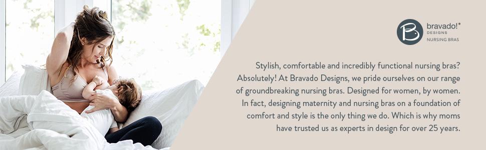 Stylish, comfortable, functional nursing bras