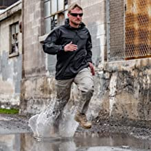 A man running on water