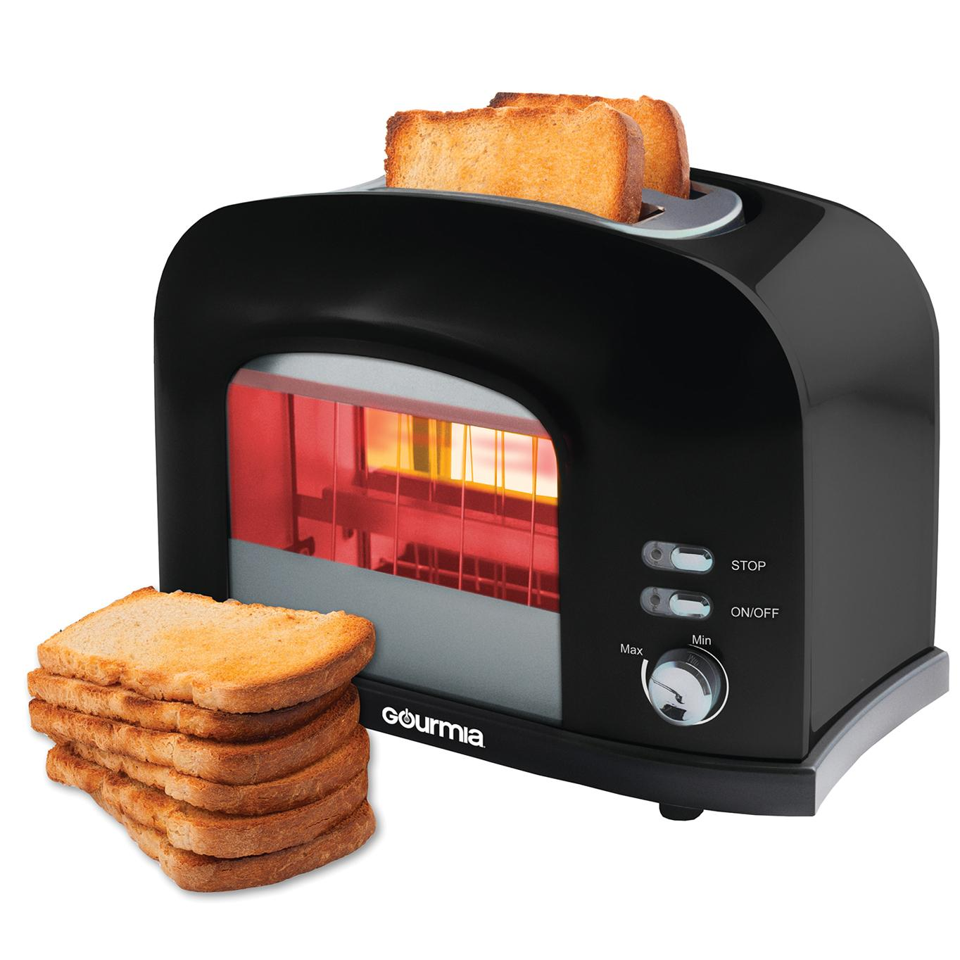 gourmia gwt230 2 slice motorized toaster. Black Bedroom Furniture Sets. Home Design Ideas