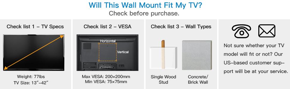 VESA TV wall mount