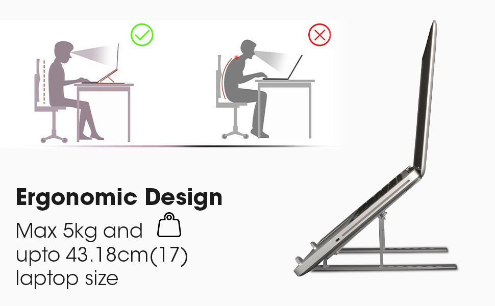 Laptop Stand,laptop stand foldable adjustable,Zeb-NS200,Zebronics Laptop Stand