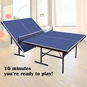 94bb7a133d8 Amazon.com   Merax Everest Series Indoor Folding Table Tennis Table ...