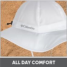 c4904b127 Columbia Women's Sun Goddess Booney Hat, Moisture Wicking Fabric, UV Sun  Protection