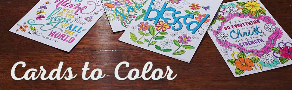 Christian Art Gifts Cards to Color