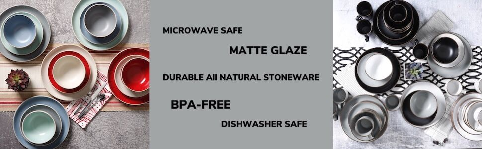 Rockaway dishwasher safe, stoneware, microwave safe
