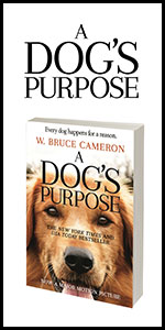 a dog's purpose, bruce cameron, book, novel, movie, movie tie-in, dvd, bluray, dog movies, family