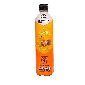 DrinkPlus Drink Plus Power Naranja Maracuya Energetico Stevia Monk Fruit Cero Calorias Diabeticos