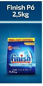 finish 2,5kg, finish lava louças, detergente em po