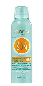 spray, protettivo, protezione, solare, idratante, dissetante, ip 30