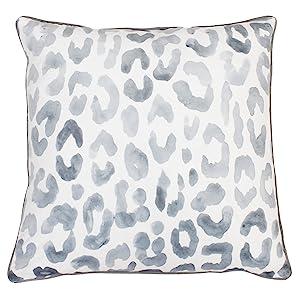 Thro By Marlo Lorenz 20x20 Miron Cheetah Velvet Throw Pillow 20 X 20 Gray Home Kitchen