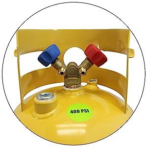 30 lb refrigerant recovery cylinder tank mastercool