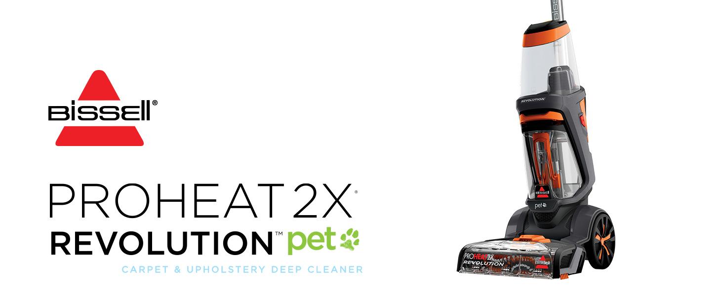 Amazon Com Bissell Proheat 2x Revolution Pet Full Size Upright Carpet Cleaner 1548f Orange Home Kitchen