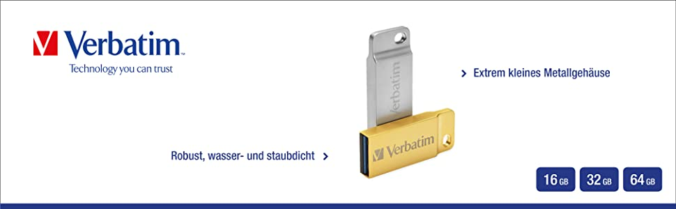 Verbatim Metal Executive Usb 3 0 Stick 16 Gb Usb Stick Computer Zubehör
