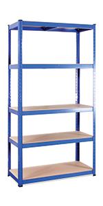 blue shelving units