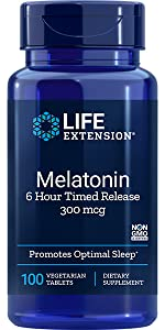 melatonin, time released melatonin, 6 hour melatonin, slow release melatonin, sleep aid