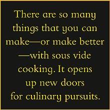 sous vide basics; sous vide cookbooks; cooking gadgets; culinary arts