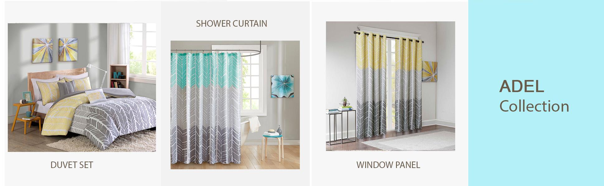Amazon.com: Intelligent Design ID70790 Adel 100% Microfiber Printed Shower Curtain, 72 x 72