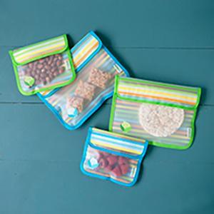two snack bags, snack bag set, snack bag pack, sandwich bag, snack, resuable, travel, preschool