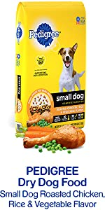 Pedigree Dry Dog Food Small Dog Roasted Chicken Rice & Vegetable Flavor, Poultry, Small Breed