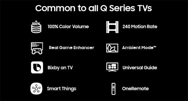 Features common to all Q Series TVs