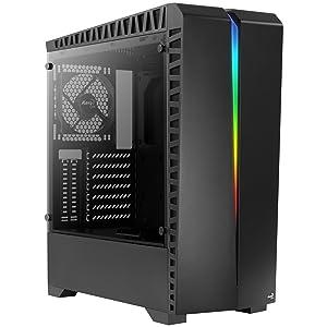 Aerocool Scar Caja de PC, ATX, Cristal Templado, RGB 15 Modos, Ventilador 12cm, ABS sintéticos, SPCC, Negro,: Aerocool: Amazon.es: Informática