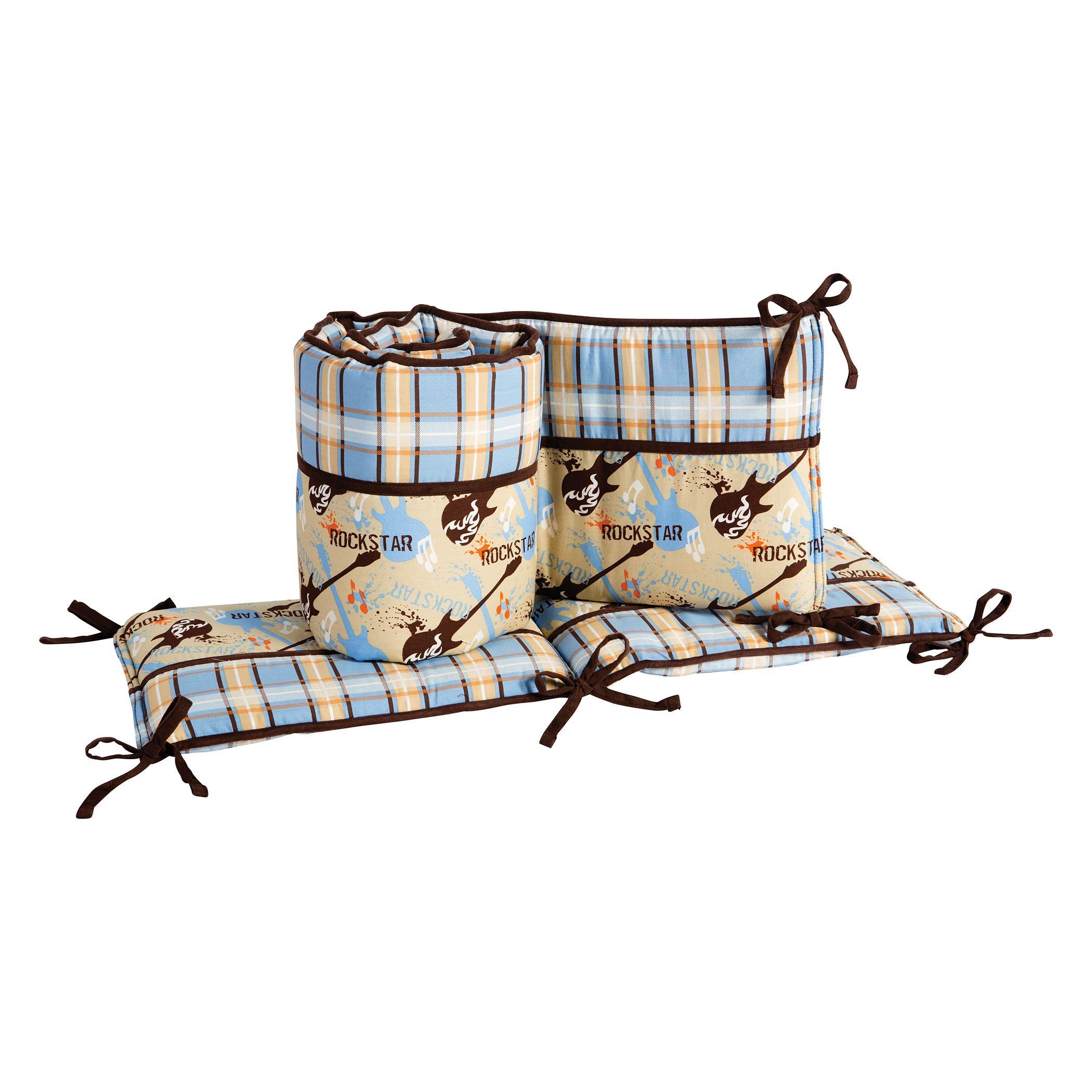 Amazon Com Trend Lab Crib Bumpers Rockstar Baby